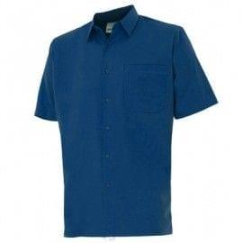 Camisa de Manga Corta de Velilla Serie 531 AZUL MARINO