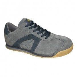 Zapato de seguridad serraje S1P SRC modelo D-SPIRIT de Deltaplus GRIS