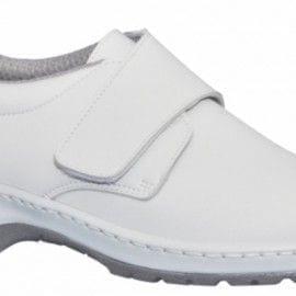 Zapato de Trabajo liso con velcro modelo MILAN SCL de DIAN BLANCO